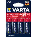 Batterien Varta Longlife Max Power Mignon AA Blister/4